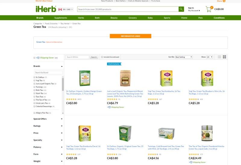 iHerb.com Landing Page