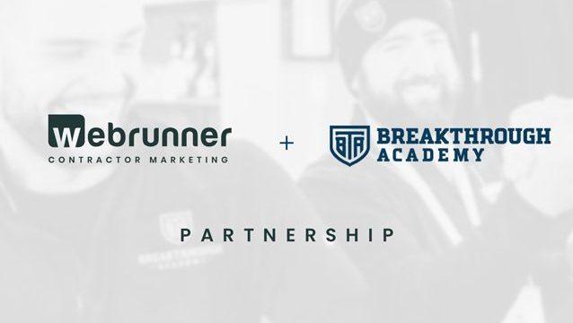 webrunner media and breakthrough academy partnership announcement