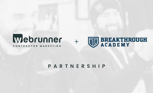 webrunner and breakthrough academy partnership annoucement