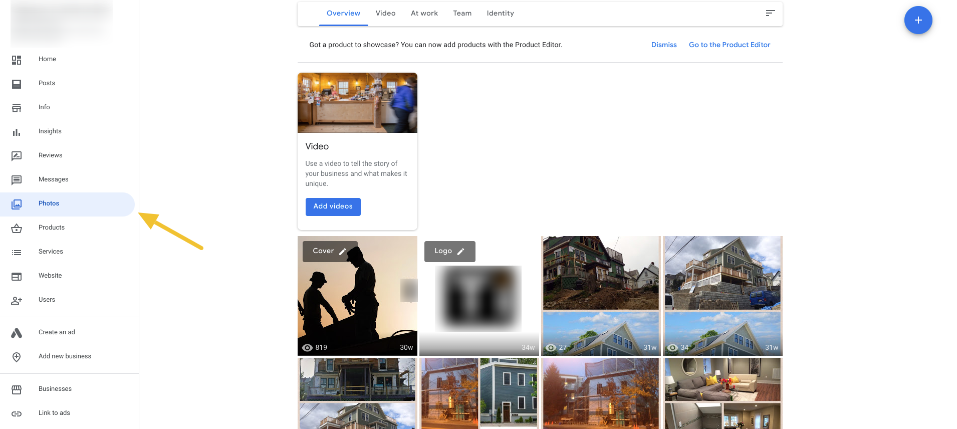 google my business for contractors