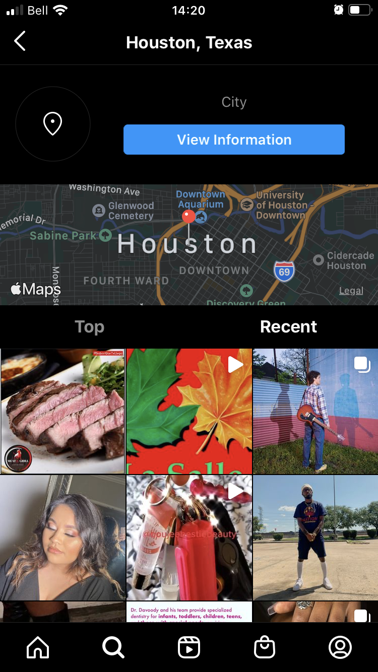 instagram location example